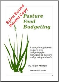 Feed budgeting for pastures - spiral bound hard copy version